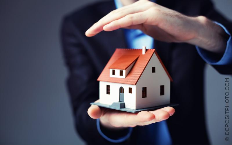 Haushaltsversicherung und Bürogebäude